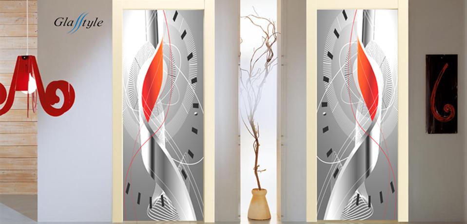 Serglasstyle porte in vetro con immagini stampate tuttovetro ...