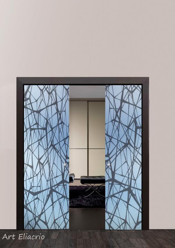 Serglasstyle porte in cristallo veneto porte tuttovetro satinate sabbiate porte stampate - Porte scorrevoli per interno ...