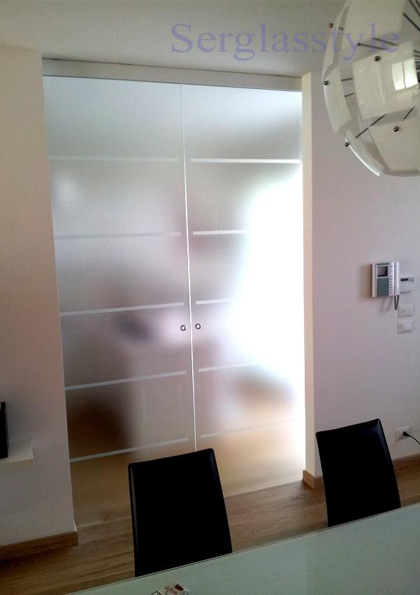 Serglas porte vetro tuttovetro SACORREVOLE ESTERNO RISTRUTTURAZIONE ...