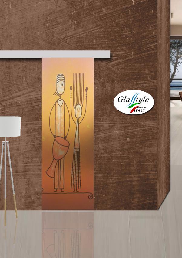 Serglasstyle porte in cristallo veneto porte tuttovetro satinate sabbiate porte stampate ...